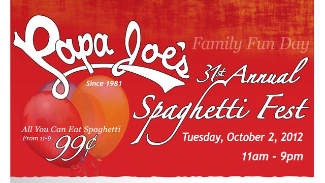 Papa Joes Spaghetti Fest Benefiting Joseph's House