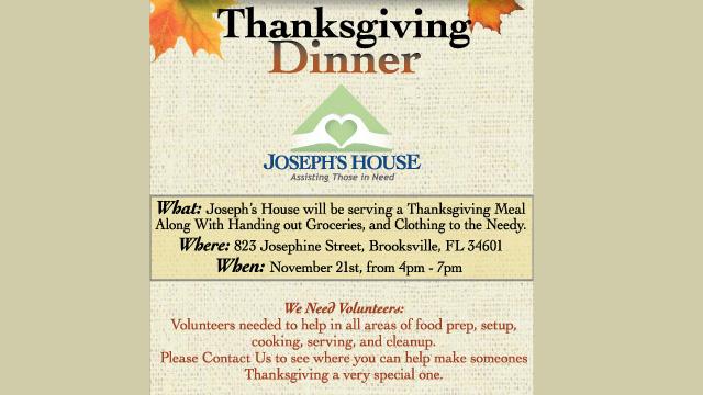 JHBV Providing Thanksgiving to the Needy